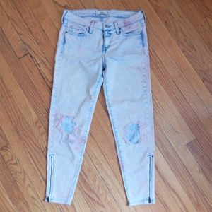 Abercrombie & Fitch Bleached Distressed Jeans Sz 2
